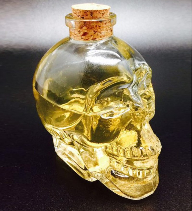 Devnow Glass 200 ML Mini Skull Decanter