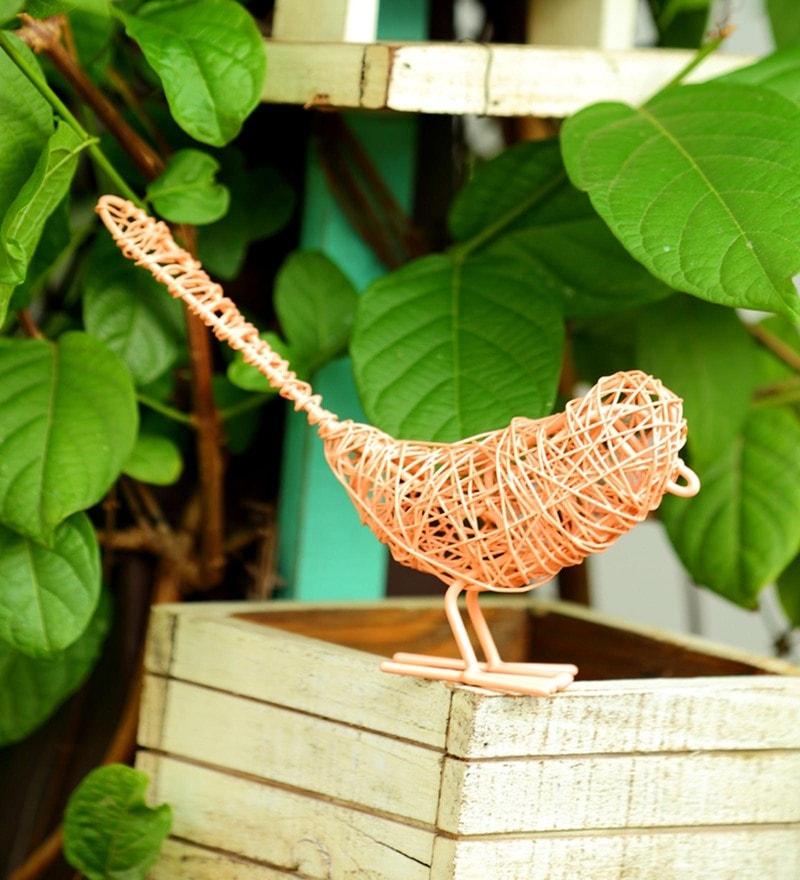 Coral Metal Wired Bird by Deziworkz