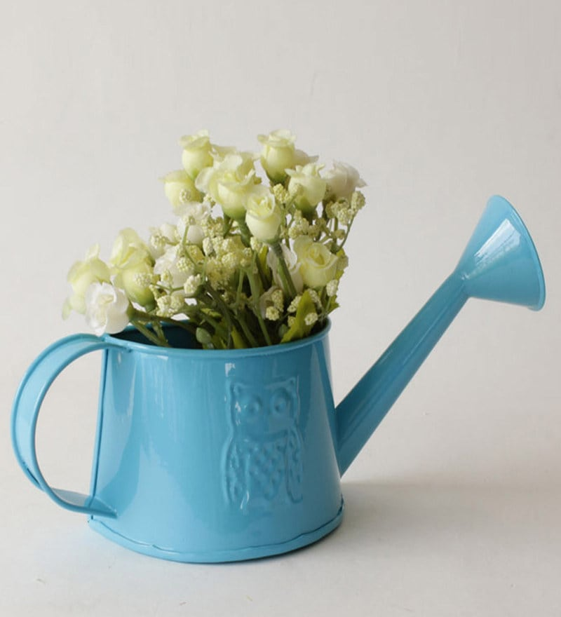 Deziworkz Garden Therapy Hanging Watering Can Blue