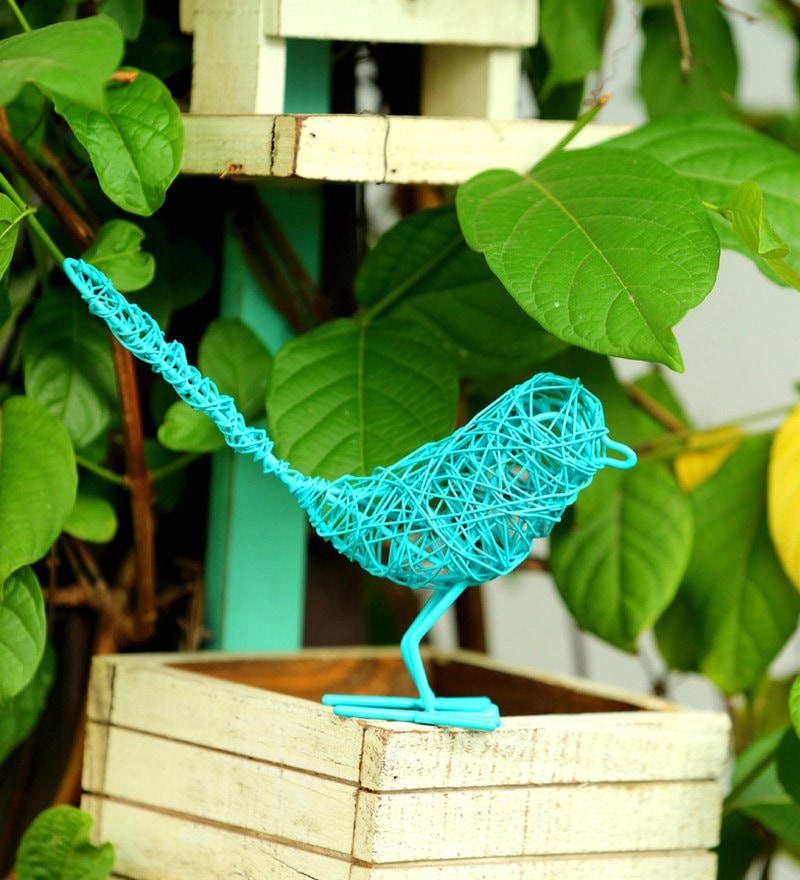 Sparrow Wired Birdie Turquoise by Deziworkz