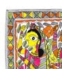 De Kulture Works Handmade Paper 11.3 x 15.3 Inch Panghat Radha And Friend Painting