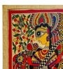 De Kulture Works Handmade Paper 11 x 15 Inch Goddess Of Wisdom  Painting