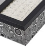 Decotrend Black & Silver Synthetic Wood Tissue Holder