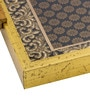 Decotrend Zari Ornate Black & Gold Synthetic Wood Serving Tray