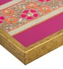 Decotrend Zari Ornate Pink Synthetic Wood Serving Tray