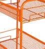 Deneb Multipurpose Metal Trolley Orange with Three Racks