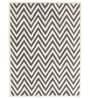 Designs View Ivory & Grey Wool & Cotton 60 x 96 Inch Hand Tufted Ziggy Design Rug