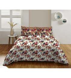 Dicitex Floral Multicolour 100% Cotton Single Bed Sheet (with Pillow Covers) - Set Of 2 - 1392345