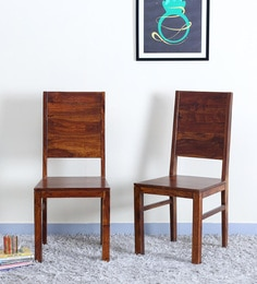 Oriel Dining Chair (Set Of Two) In Honey Oak Finish