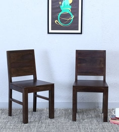 acropolis dining chair set of 2 in warm chestnut finish