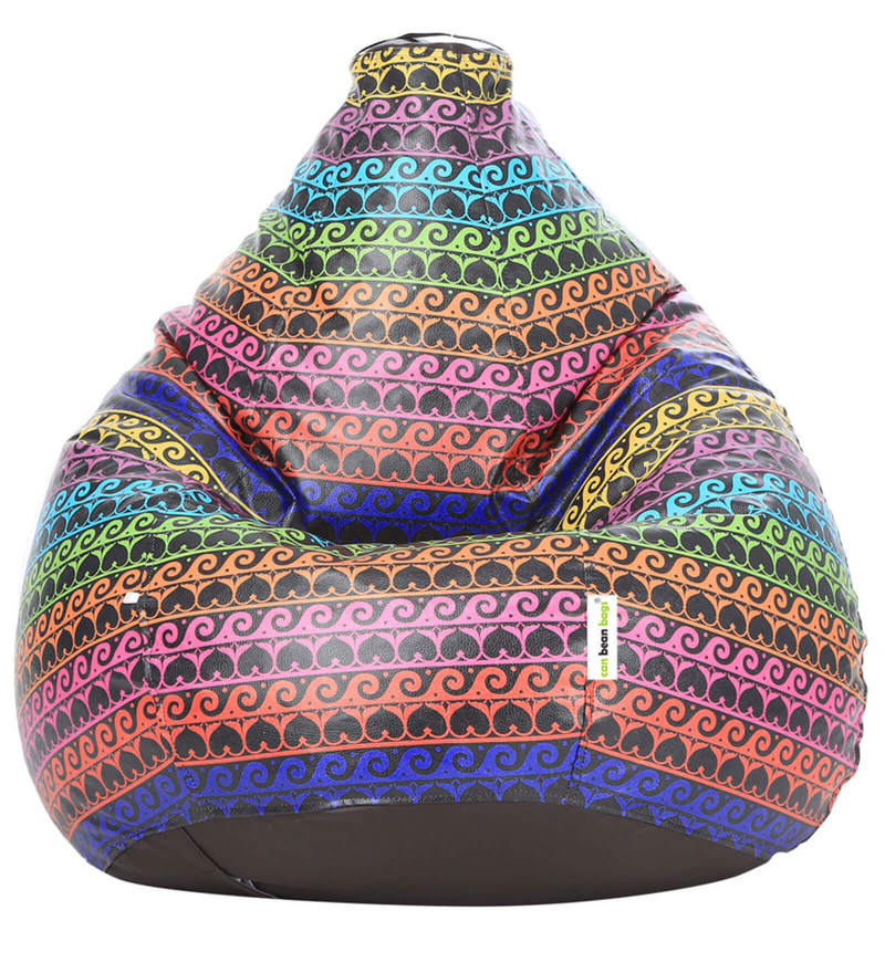 Digital Printed Bean Bag (Without Beans) Cover in Waves Theme by Can