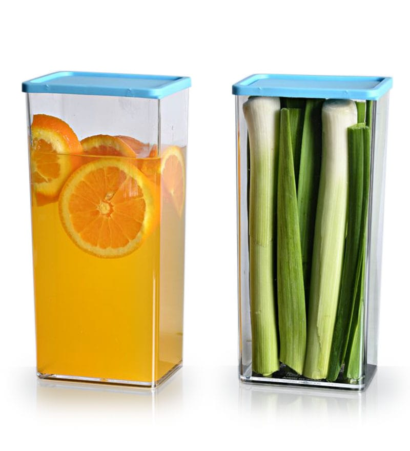 Disha Stack & Store Transparent 1225 ML (Each) Storage Container - Set of 2