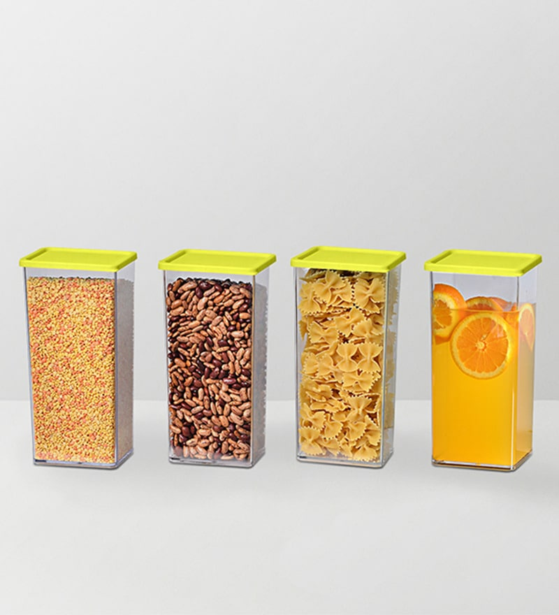 Disha Green 1225 ML (Each) Storage Container - Set of 4