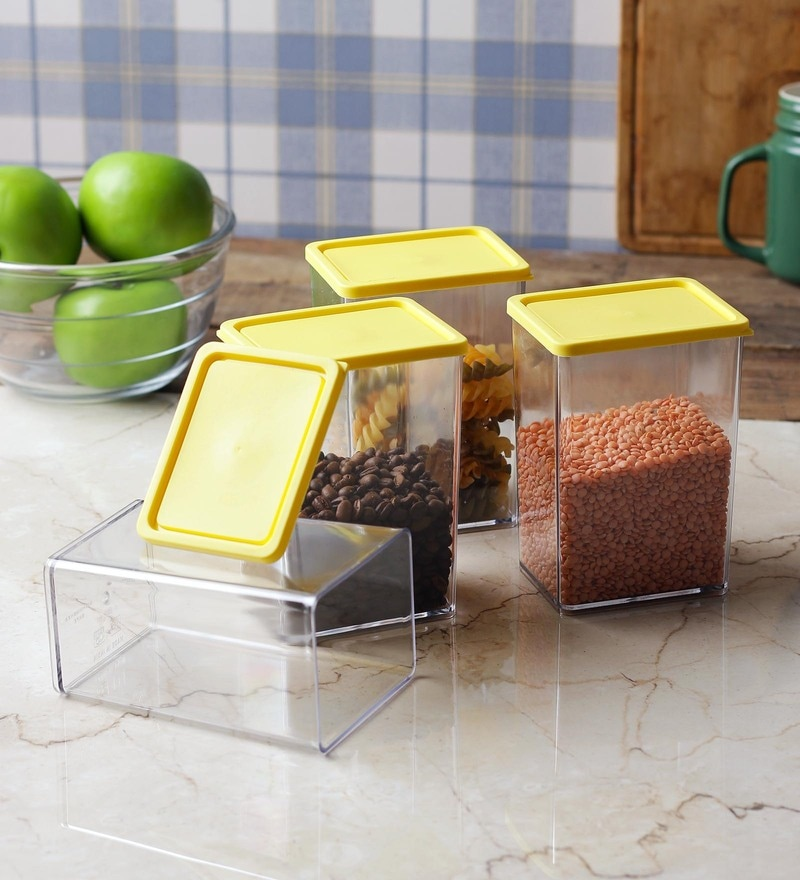 Disha Yellow 800 ML (Each) Storage Container - Set of 4