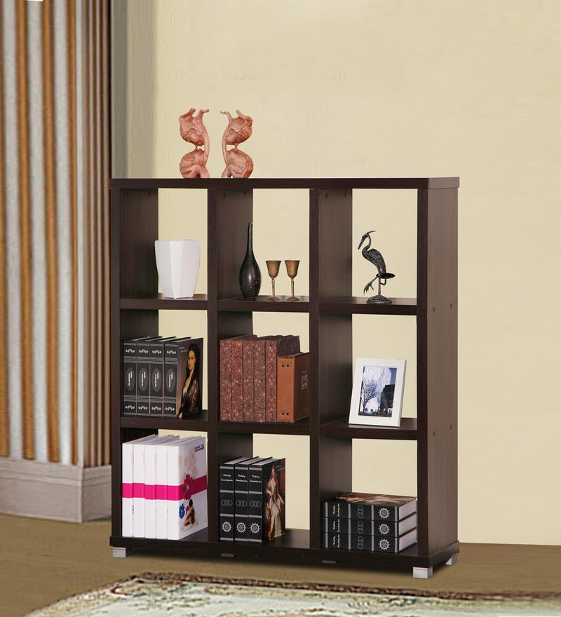 Display Unit cum Book Shelf in Wenge Finish by Marco