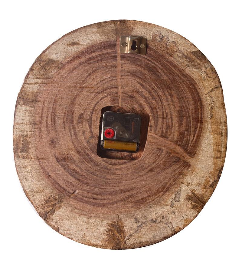 Buy Divine Decor Brown Teak Wood 13 Inch Live Edge