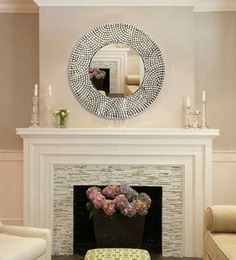 Dora Hand-Crafted Decorative Round Wall Mirror
