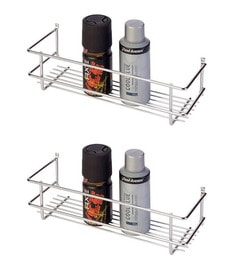 Doyours Glossy Stainless Steel 11 8 Inch Bathroom Shelves Set Of 2