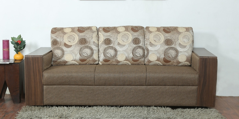Durban Three Seater Sofa In Brown Colour By Star India