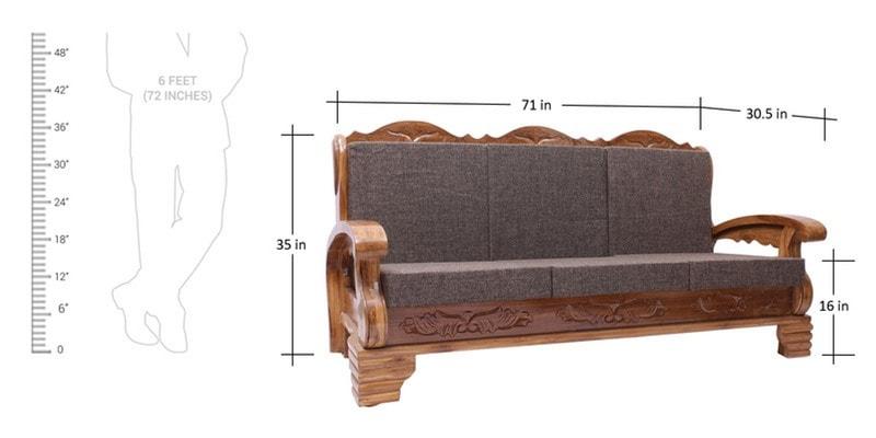 Buy Downing Teak Wood Sofa Set 3 1 1 Seater In