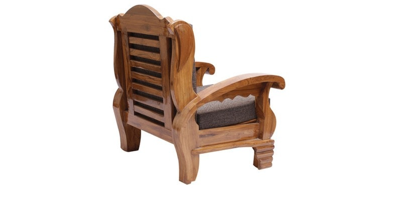 Buy Downing Teak Wood Sofa Set 3 1 1 Seater In Natural Teak