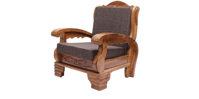 Buy Downing Teak Wood Sofa Set (3 + 1 + 1) Seater in