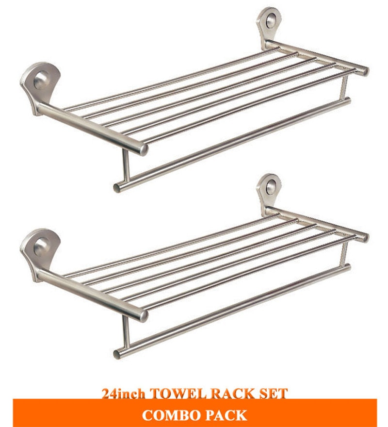 Doyours Stainless Steel Towel Rack - Set of 2