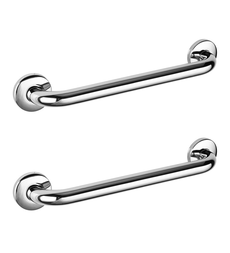 Doyours Glossy Stainless Steel 14.9 x 3.7 x 2.9 Inch Grab Bar Set