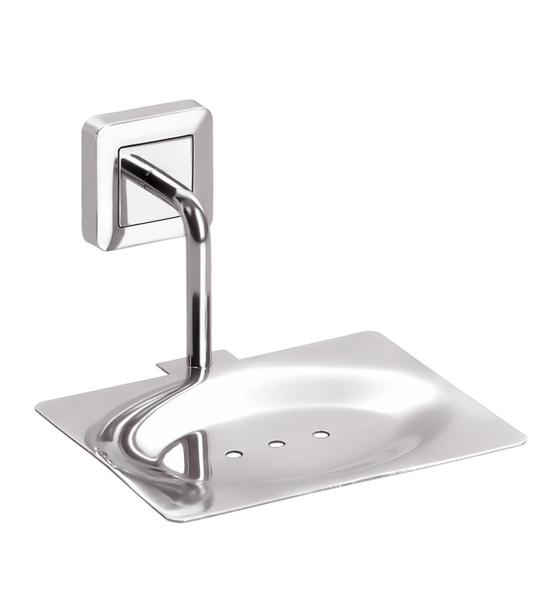 Doyours Glossy Stainless Steel 4.7 x 5.1 x 3.1 Soap Dish