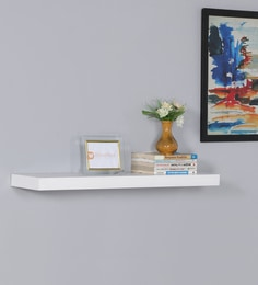 Floating Wall Shelf In White Finish