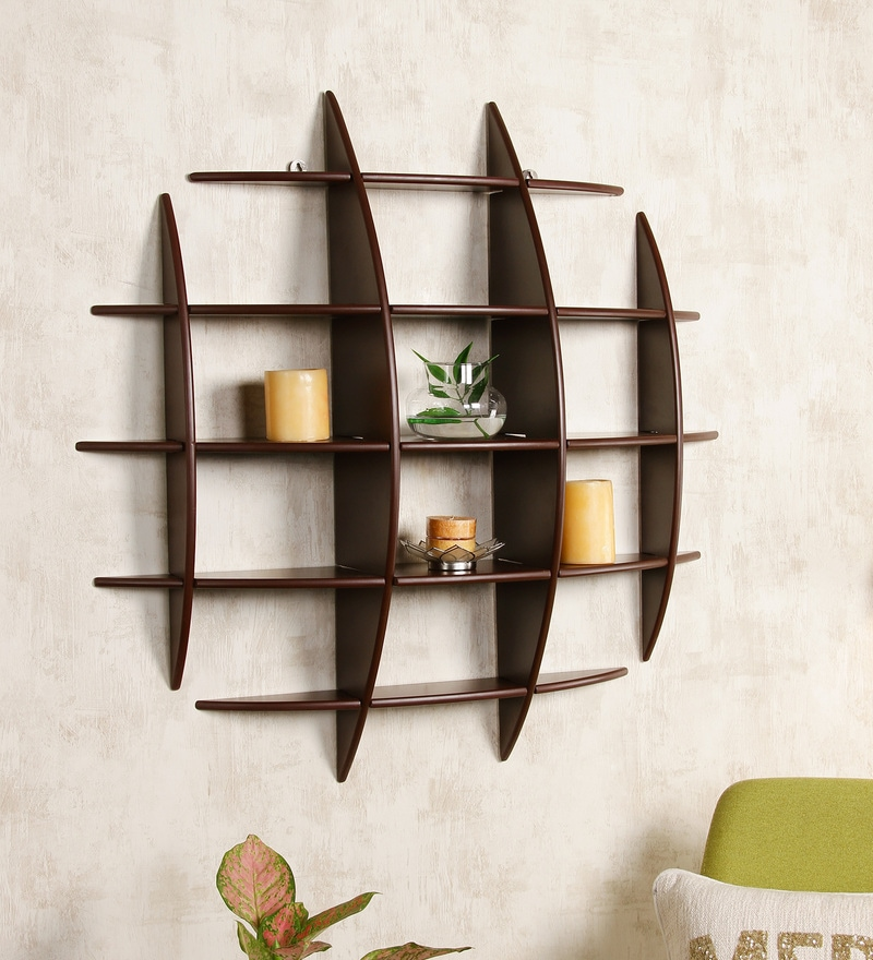 Dream Arts Brown MDF Bow Rack Shelf