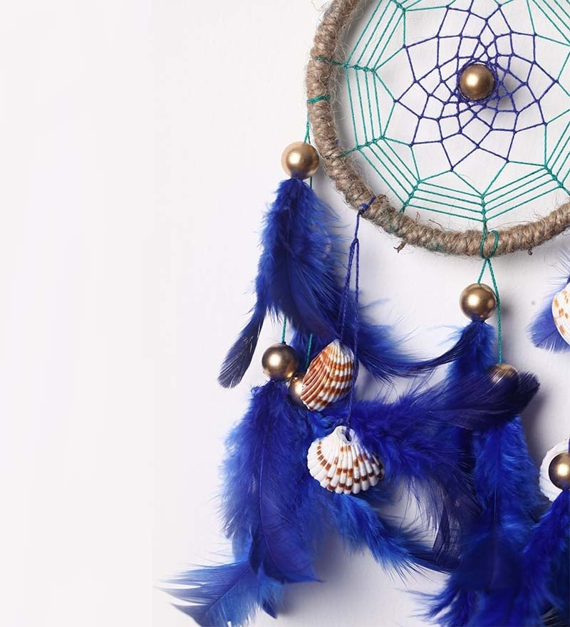 Buy Blue Wool Dream Catcher By Rooh Dream Catchers Online