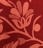 Red Cotton Floral Queen Bed Sheet (with 2 Pillow Covers)-Set of 3 by Dreamscape