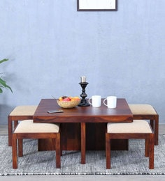 Duvall Coffee Table Set In Honey Oak Finish