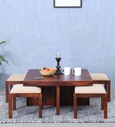 Duvall Coffee Table Set In Honey Oak Finish