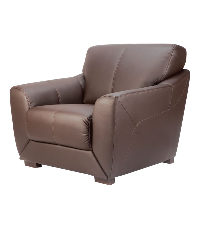 Leather Sofa Sets Online: Durian Compact Leather Sofa Set By Durian Online