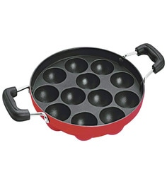 Dynore Non-Stick Stainless Steel 12 Regular Appam Maker