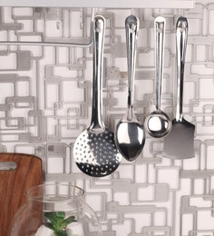 Dynore Silver Stainless Steel 4-piece Spatula Set