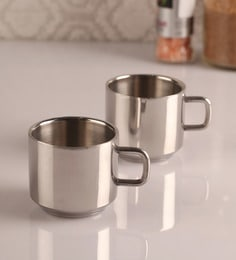 Dynamic Store Stainless Steel Tea Cups - Set Of 2