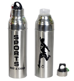 Dynore Stainless Steel 1000 ML Insulated Hot & Cold Water Bottles - Set Of 2