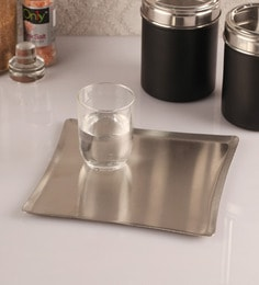 Dynore Stainless Steel Serving Tray, Set Of 2