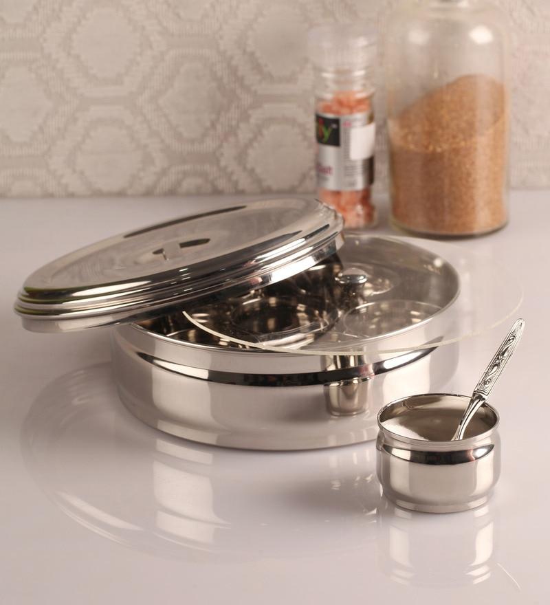 Dynore Silver 2000 Ml Spice Box