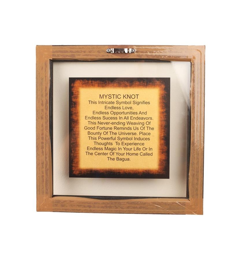 Buy Gold Foiling 95 X 95 Inch Zen Mystic Knot Symbol Wooden Frame