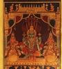 879 Lakshmi Padmavati Venkateshwara Metallic  finish PRINT on Paper Wall Accent by E-Studio
