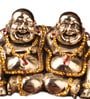 Multicolor Metal Feng Shui Twin Happy Man with Swarovsky Embellishments Showpiece by E-Studio
