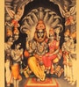 Multicolor Metallic  finish PRINT on Paper 13 x 18 Inch Unframed Lakshmi Narasimha Artwork by E-Studio