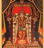 E-Studio Multicolor Metal 13 x 18 Inch Unframed Tirupati Artwork