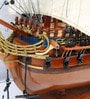 Multicolour Solid Wood Hms Bellona Ship Collectible by E-Studio