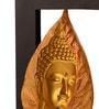 Multicolour Polyresin 3D Leaf Buddha Key Holder by Earth