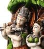 Earth Multicolour Polyresin Radha Krishna Statue